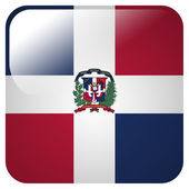 Glossy icon with flag of Dominican Republic — Stock Photo