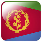 Glossy icon with flag of Eritrea — Stock Photo