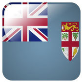 Glossy icon with flag of Fiji — Stock Photo