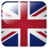Glossy icon with flag of Great Britain — Stock Photo