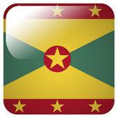 Glossy Icon mit Flagge Guernseys — Stockfoto
