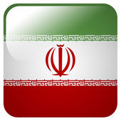 Glossy icon with flag of Iran — Stock Photo