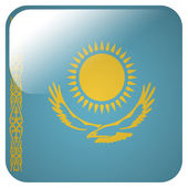 Glossy icon with flag of Kazakhstan — Stock Photo