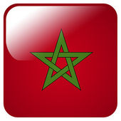Glossy icon with flag of Morocco — Stock Photo