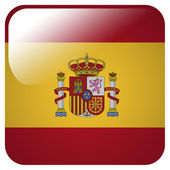Glossy icon with flag of Spain — Stock Photo