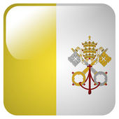 Glossy icon with flag of Vatican City — Stock Photo