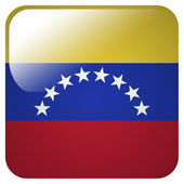Glossy icon with flag of Venezuela — Stock Photo