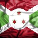 Burundi waving flag — Stock Photo