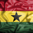 Ghana waving flag — Stock Photo #39842349