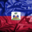 Stock Photo: Haiti waving flag