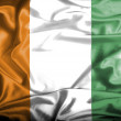 Stock Photo: Ivory Coast waving flag