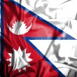 Nepal waving flag — Stock Photo #39846031