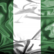 Nigeria waving flag — Stock Photo