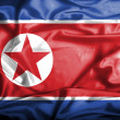 North Korea waving flag — Stock Photo #39846263