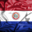 Paraguay waving flag — Stock Photo