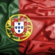 Stock Photo: Portugal waving flag