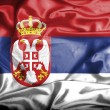Serbia waving flag — Stock Photo