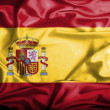 Stock Photo: Spain waving flag