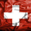 Swiss waving flag — Stock Photo