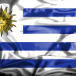 Uruguay waving flag — Stock Photo