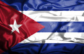 Cuba waving flag — Stock Photo