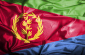 Eritrea waving flag — Stock Photo