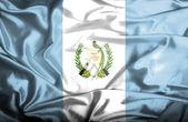 Guatemala waving flag — Stock Photo