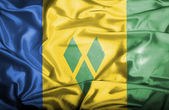 Saint Vincent and Grenadines waving flag — Stock Photo