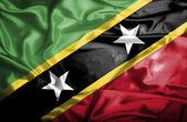 Saint kitts i nevis bandery macha — Zdjęcie stockowe