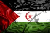 Western Sahara waving flag — Stock Photo