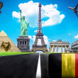 Travel the world conceptual image - Visit Belgium — Stock Photo