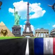 Travel the world conceptual image - Visit France — Stock Photo