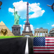 Travel the world conceptual image - Visit United States of Ameri — Stock Photo #41076375