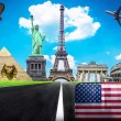 Travel the world conceptual image - Visit United States of Ameri — Stock Photo