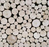 Cut wood logs background — Stock Photo