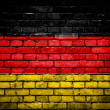 Brick wall with painted flag of Germany — Stock Photo