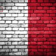 Brick wall with painted flag of Malta — Stock Photo #41761633