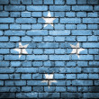 Brick wall with painted flag of Micronesia — Stock Photo