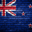 Brick wall with painted flag of New Zealand — Stock Photo #41762593