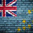 Brick wall with painted flag of Tuvalu — Stockfoto