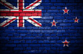 Brick wall with painted flag of New Zealand — Stock Photo