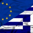 Waving flag of Greece and EU — Stock Photo #44189561