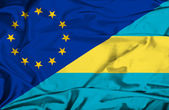 Waving flag of Bahamas and EU — Photo