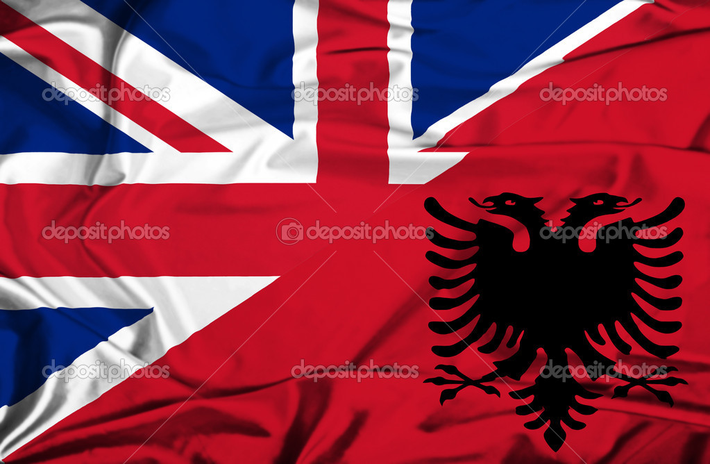 Albanian Flag Waving Waving Flag of Albania And uk