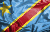 Congo Democratic Republic waving flag — Stock Photo