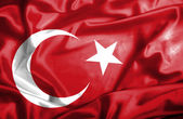 Turkey waving flag — Stock Photo