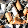 Macro shot of dirty ash tray — Stock Photo