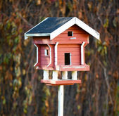 Old bird house — Stock Photo