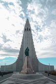 Hallgrimskirkja Cathedral - Iceland Reykjavik — Stock Photo