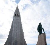 Hallgrimskirkja Cathedral - Iceland Reykjavik — Stock Photo